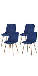 Velvet side chairs