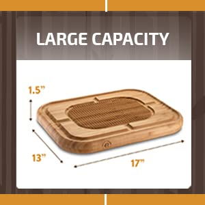 large capacity board for meat, chicken, turkey and steak