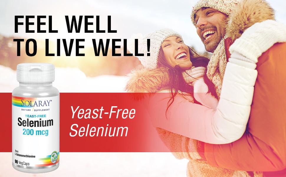 Solaray Selenium 200 Yeast-Free 200mcg Immune Thyroid Function Antioxidant Vegan Non-GMO 90ct