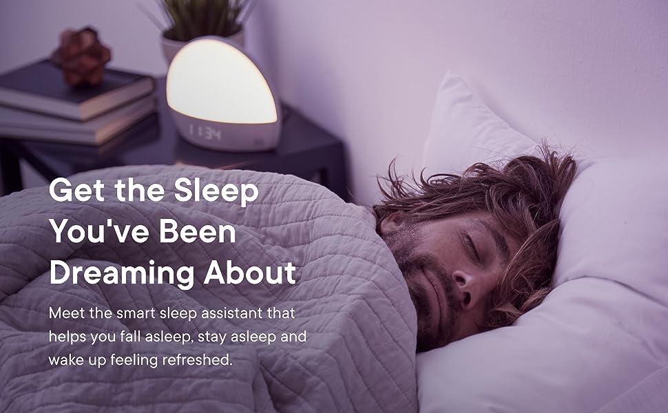 sleep, sound machine, alarm, light