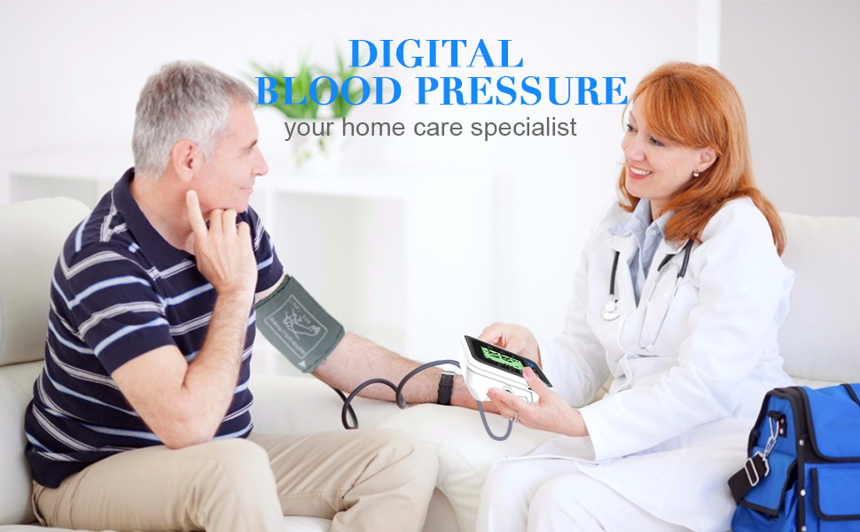 """Blood pressure monitor  Blood Pressure Monitor for Home Use with Large 3.5"""" LCD Display, Wowgo Digital Upper Arm Automatic Measure Blood Pressure and Heart Rate Pulse with Wide-Range Cuff,Three-Color Backlight Display 4f64aeab 6517 4b5d 8fad 9a9b0ddeff9d"""