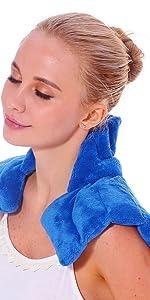 huggaroo original neck wrap microwavable heating pad with lavender