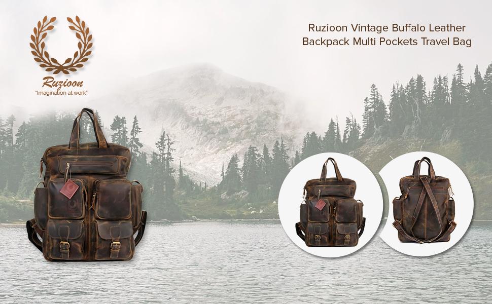 Vintage Buffalo leather bag
