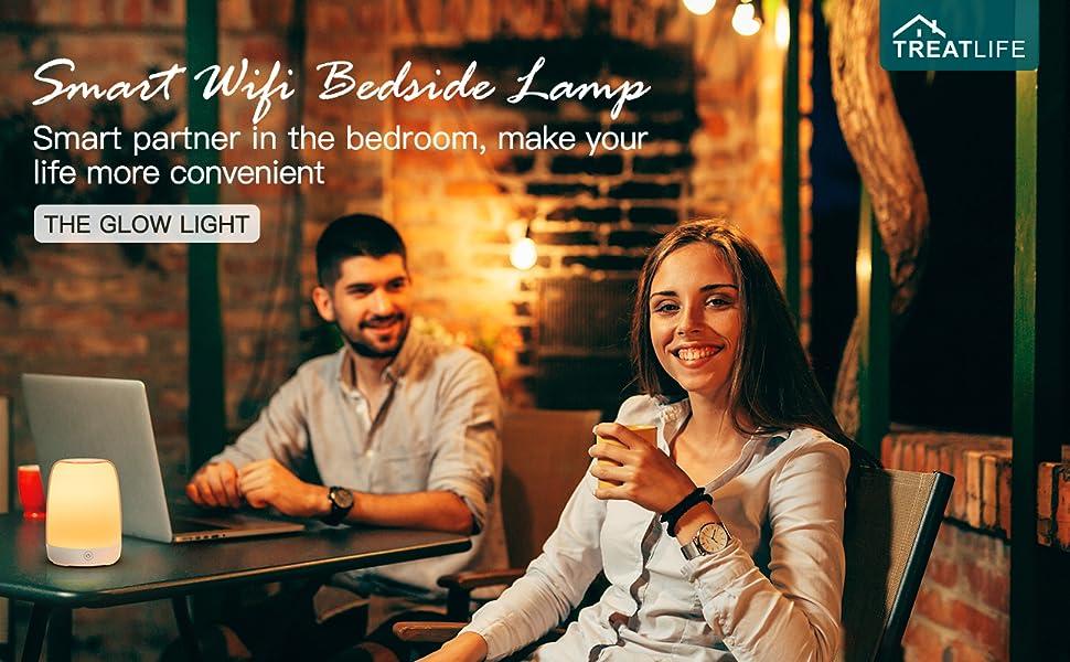Smart Wifi Bedside Lamp