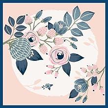foulard petit carré cou sac cheveux enfant orange plissé cou pour offrir fleur soie sauvage rose