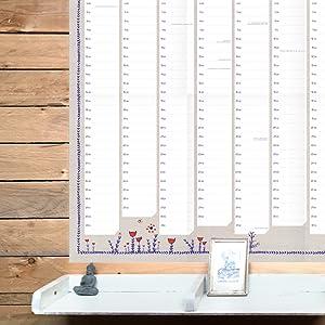 wandkalender a1 groß papier design blumen team dienstplan diy vintage recyclingpapier schön breit