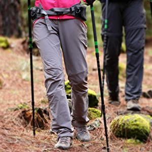 quick dry zip off pants for hiking