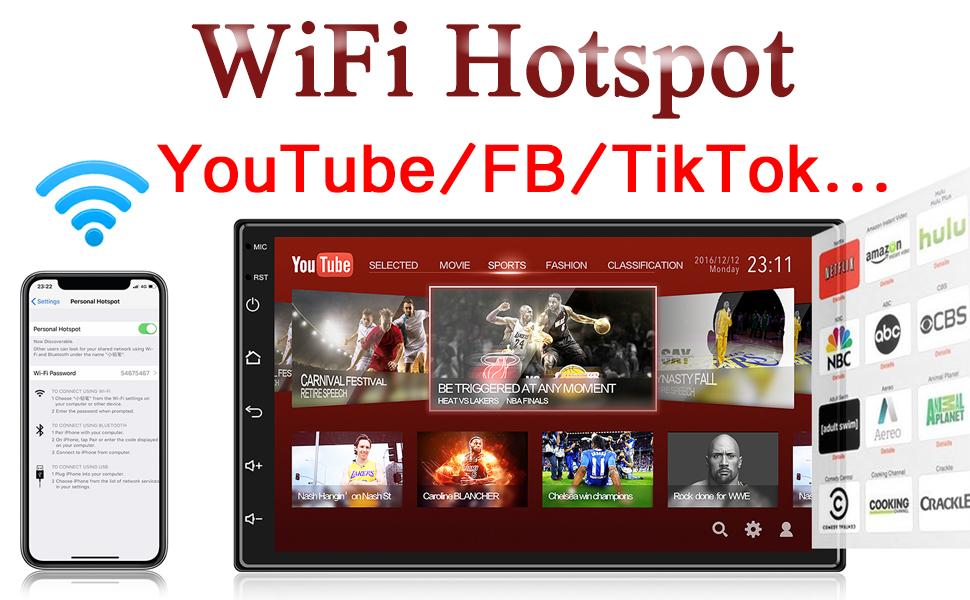 ANKEWAY 2 DIN Android 9.1 Radio del Coche Navegación GPS 7 Pulgadas 1080P HD Pantalla Táctil WiFi/Bluetooth Autoradio Manos Libres 1G/16G Multimedia Car Stereo+Internet WiFi+Cámara de Visión Trasera: Amazon.es: Electrónica