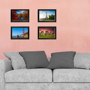 8x12 picture frame photo pic poster wall  paper size glass front wood most popular