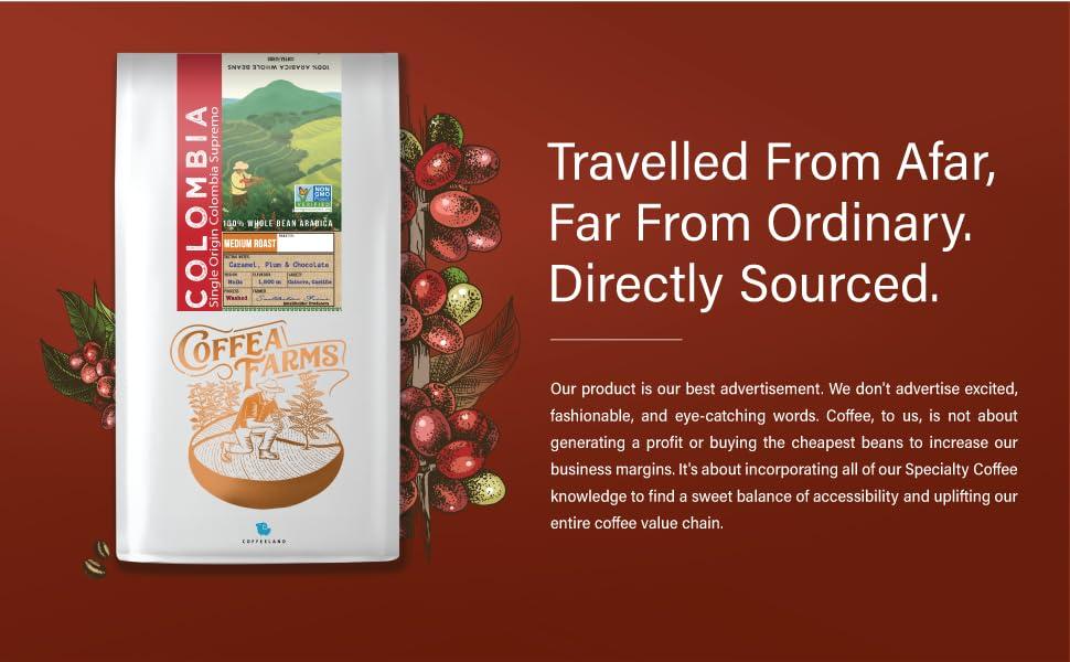 Colombia Medium Roast Whole Bean Coffee