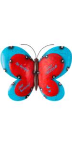 butterfly fence wall art
