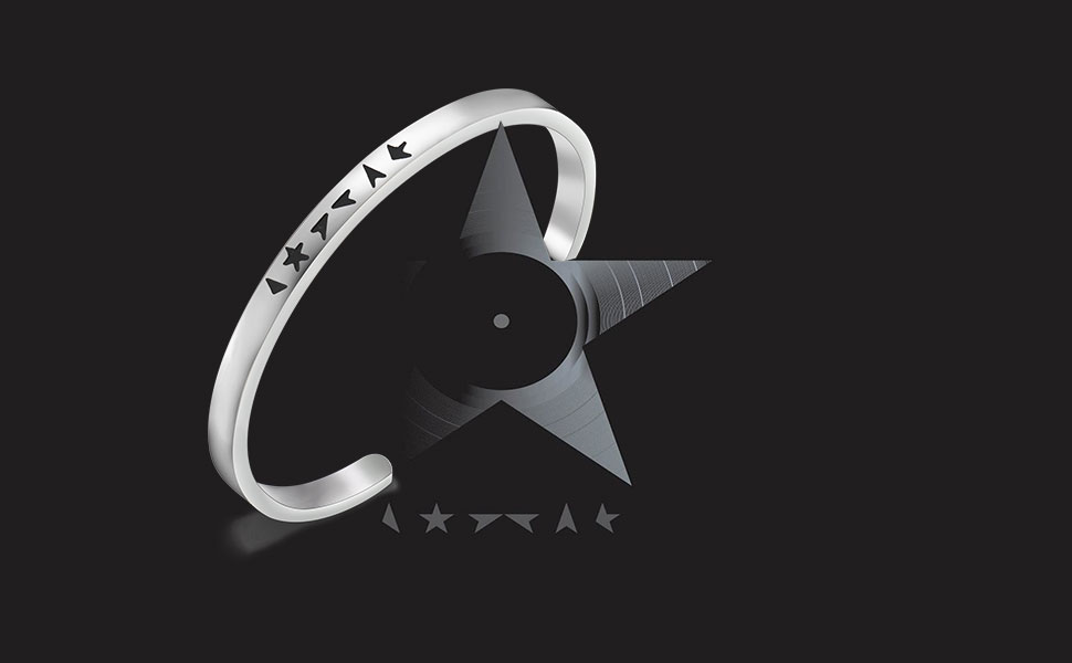 MAOFAED David Bowie Inspired Black Star Bracelet Black Star Jewelry David Bowie Fans Gift Music Lover Gift Gift for Friend