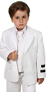 white, suit, formal, casual, boy, girl, unisex