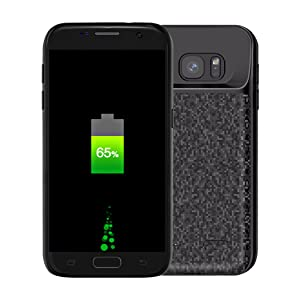 Galaxy S7 Edge Battery Case, NOVPEAK 5000mAh Slim Portable Extended Backup Charging Battery Charger Case for Samsung Galaxy S7 Edge (Not for S7)
