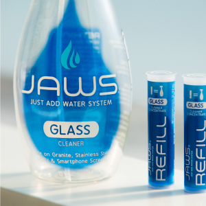 jaws glass cleaner, window cleaner, nontoxic mirror clean, ammonia free