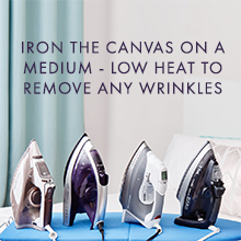 Iron the canvas