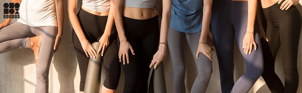 ODODOS Out Pocket High Waist Yoga Pants,Tummy Control,Pocket Workout Yoga Pants