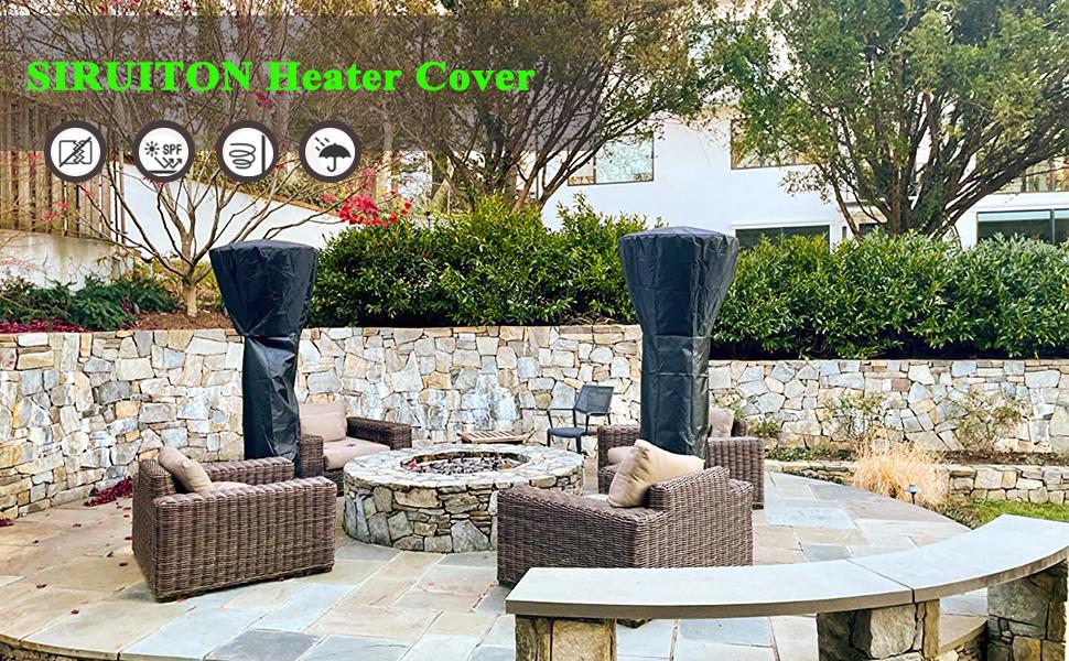 Waterproof dustproof /& Anti-UV 87x33.5x18.9IN, Black Standup Outdoor Round Heater Covers Lucky 99 Stand-up Patio Heater Cover Waterproof with Zipper Heavy Duty Waterproof Oxford Fabrics