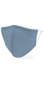 Adult Reusable, Washable Cloth Face Mask With Filter Pocket - Powder Blue