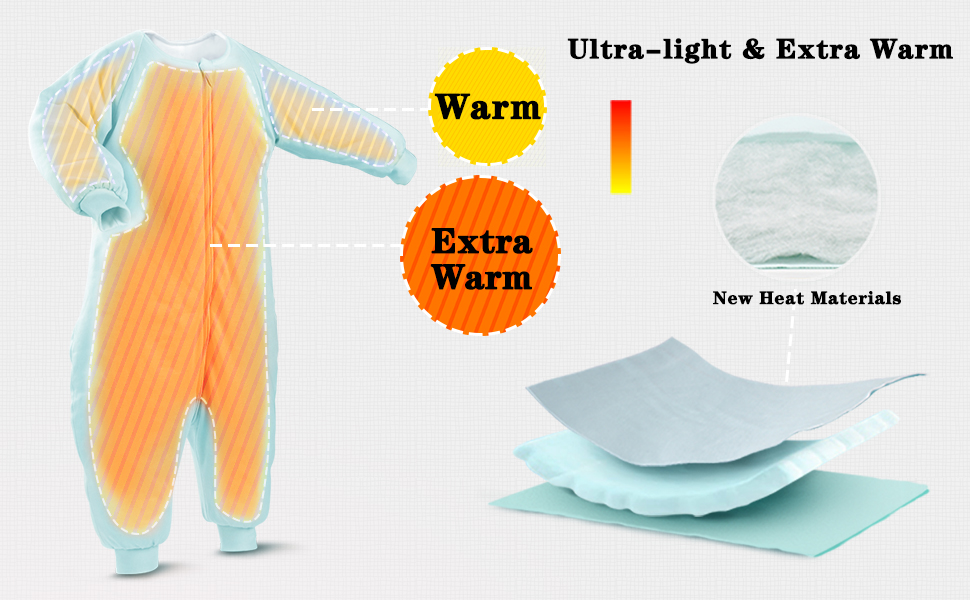 Extra light and extra warm
