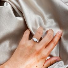 chic stylish trendy ring Promise Bridal Ring stone similar or same as diamond Valentine's Day gift