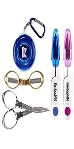 portable pen scissor shear fabric embroidery kitchen pinking folding