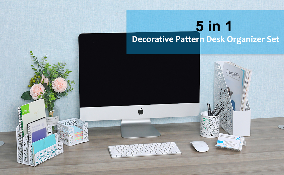 EasyPAG Desk Accessories Organizer Set 5-Piece