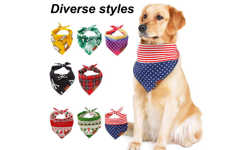 Cat or Puppy Bandana XSMALL in Blue Denim Dog in Over the Collar Design