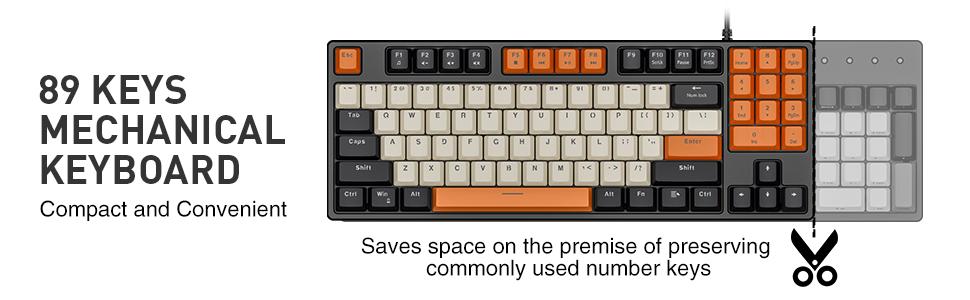 89 Keys keyboard