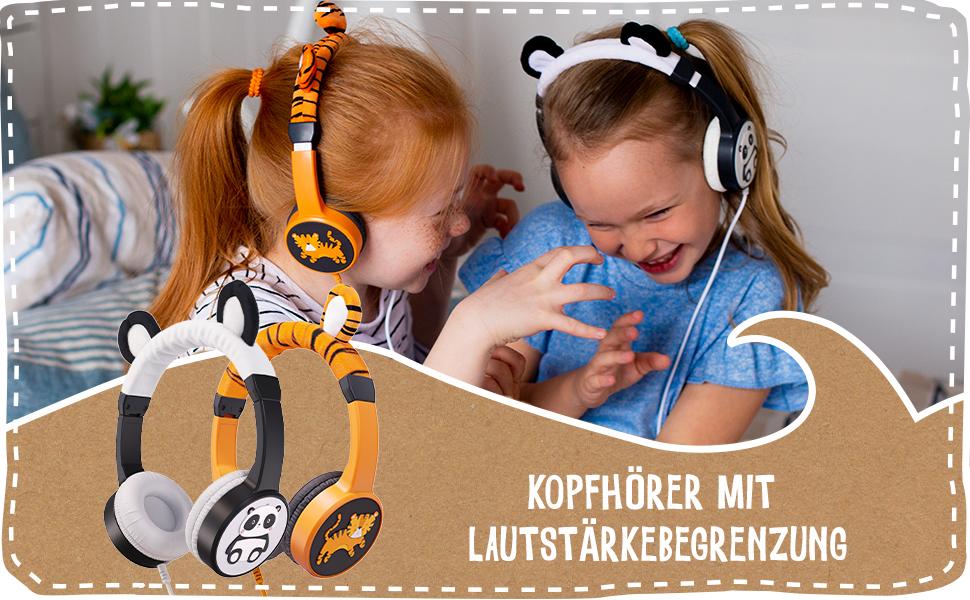 planet buddies, headphones, earphones, eco, tiger, panda, kids headphones, kids earphones