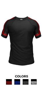Core short sleeves rash guard