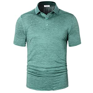 durable stretchy sport collared tshirt
