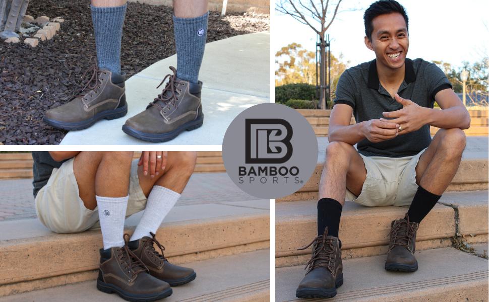 Bamboo Sports Premium Crew Socks