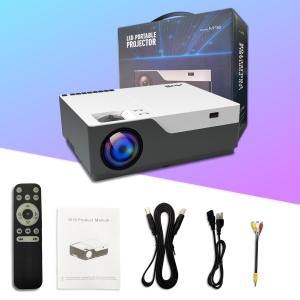 Proyector 6500 Lúmenes Full HD 1080P Nativo-Artlii Stone Proyector ...