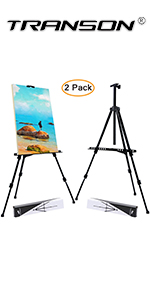 Transon Art Easel Stand for Painting and Display 20 to 65 Adjustable with Portable Bag(Black)