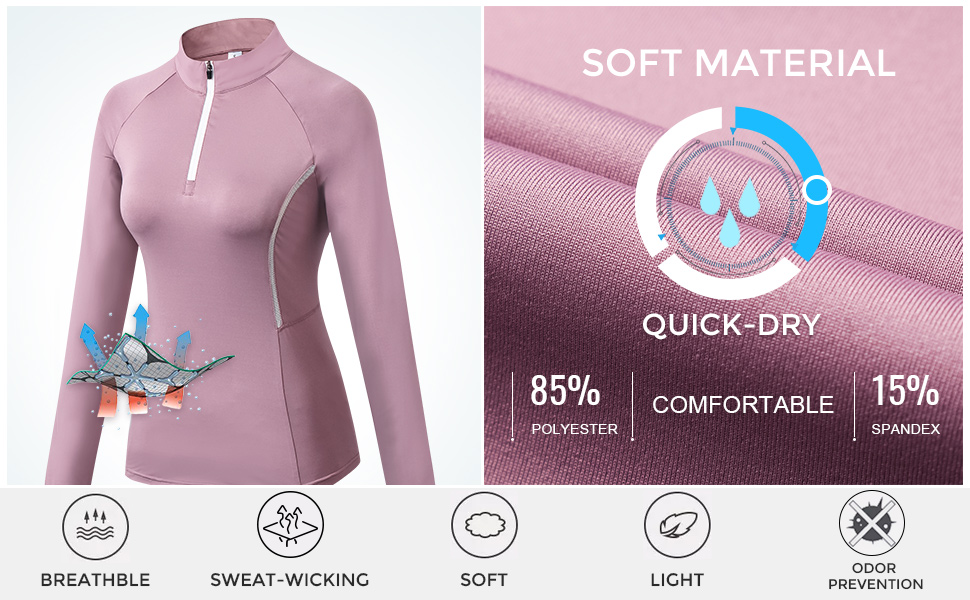 Sillictor 1//4 Zip Running Top Women Thermal Ski Base Layer Breathable High-wicking Soft