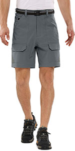 Men's Outdoor Casual Lightweight Breathable Quick Dry Hiking Fishing Cargo Shorts