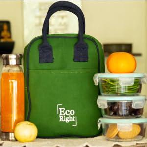 Green Lunch bags for women men adults