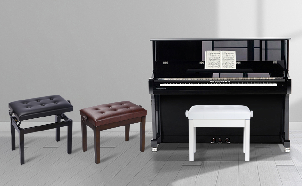 banc de piano réglable disponible en 3 couleurs
