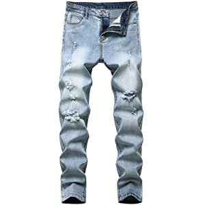 men's work jeans men's relaxed fit cinch jeans mens denim jeans Street style jeans frayed jeans