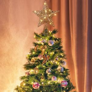 Beautiful star on the tree