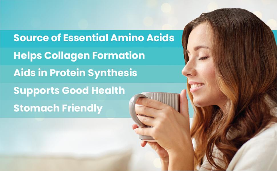 Senzu Essential Amino Acids Collagen Formation Protein Synethesis acides aminés essentiels