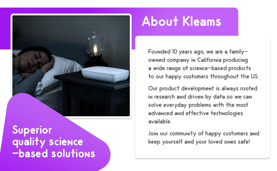 about Kleams superior quality science based solutions