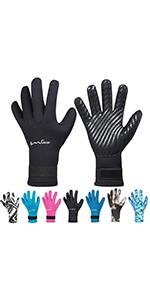neoprene diving gloves snorkeling gear kayaking spearfishing gloves