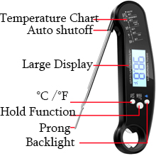 probe thermometer digital meat thermometer for grill candy thermometer food thermometer for cooking