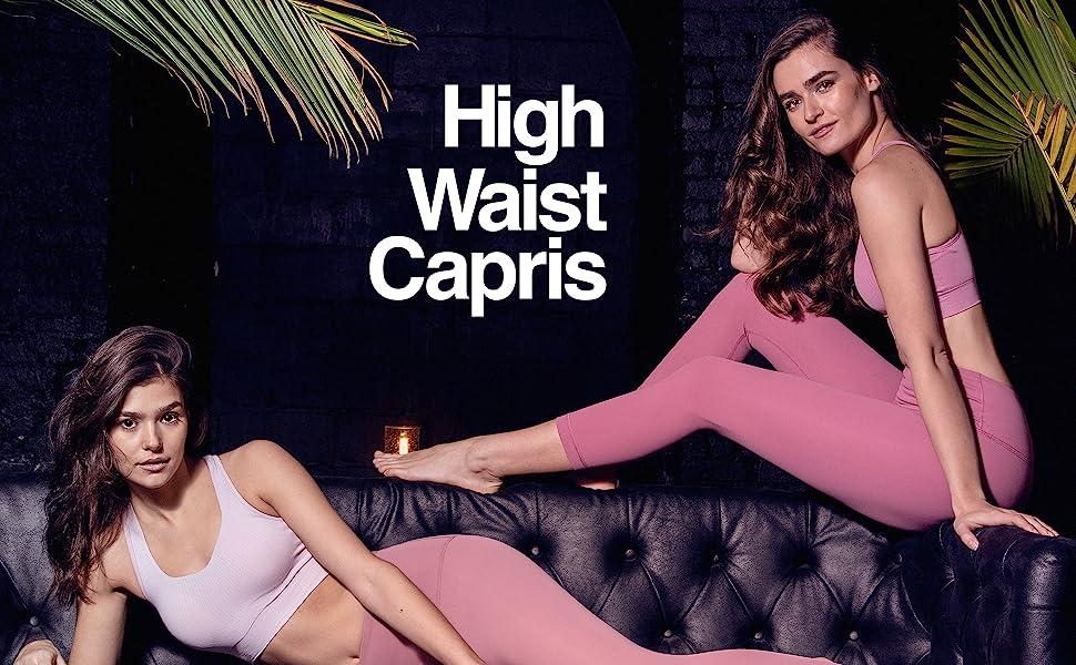 high waist capris