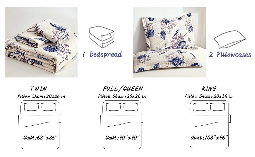 Reversible bedspread