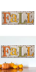 "36""L Fall Metal Sign Hanging Decor"