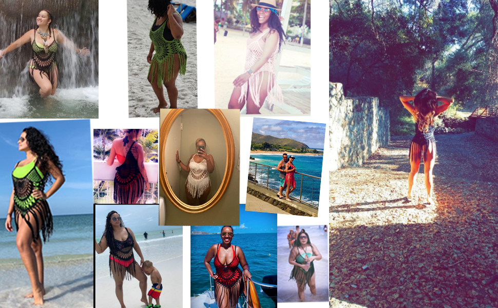 Swimsuit Cover up Color:Black/Blue/Red/Pink/Purple/Green/Sky blue/Rose Red/Black Red/Black yellow/