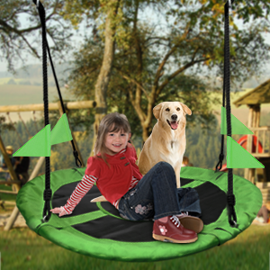 Tree Swing, Outdoor Swing with Hanging Strap Kit Playground Swing, Backyard and Playroom